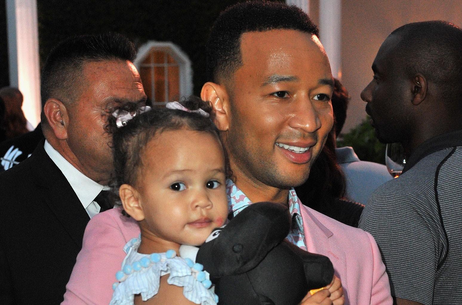 John Legend and his daughter, Luna