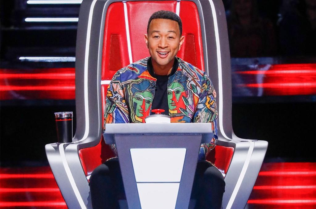 John Legend on The Voice on Oct. 8, 2019.