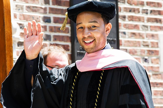 John Legend receives an honorary Doctor of Music