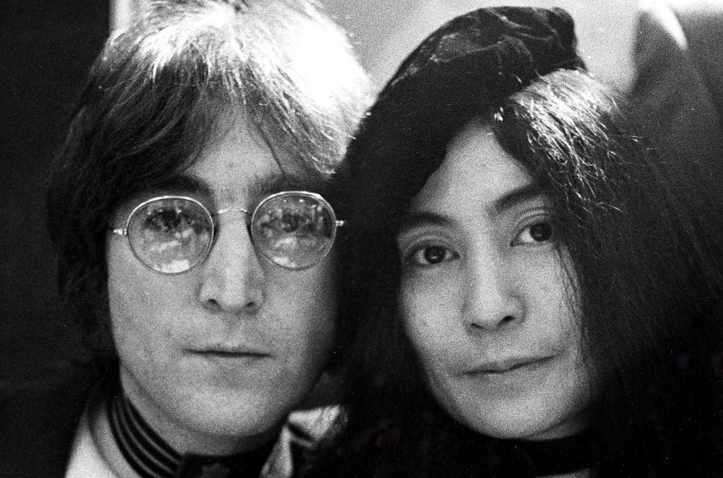 John Lennon and Yoko Ono.