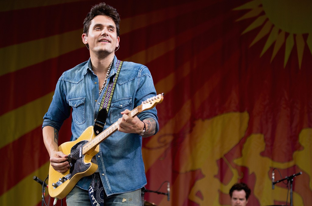 John Mayer performs during the 2013 New Orleans Jazz & Heritage Music Festival at Fair Grounds Race Course on April 26, 2013 in New Orleans.