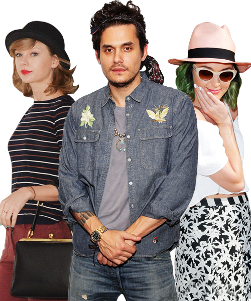 Taylor Swift, John Mayer and Katy Perry