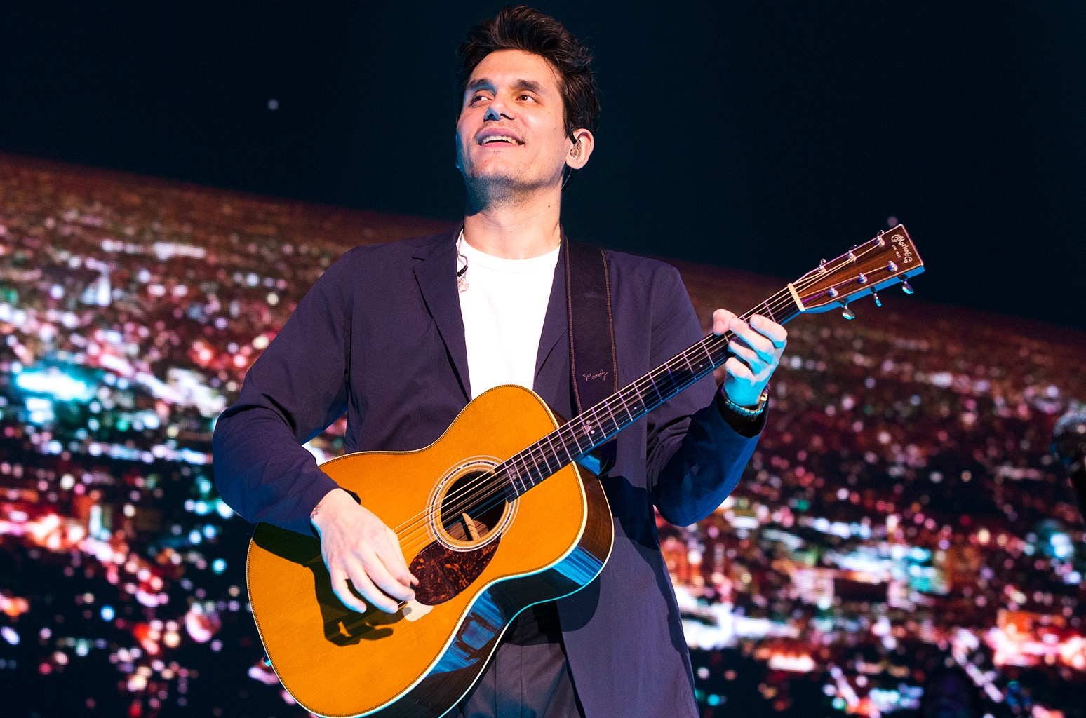 """John Mayer performs in concert during his """"The Search for Everything Tour"""" at The Wells Fargo Center on April 7, 2017, in Philadelphia."""