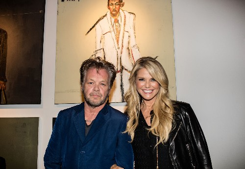 """John Mellencamp and Christie Brinkley attend Mr. Mellencamp's art exhibition opening """"The Isolation Of Mister"""""""