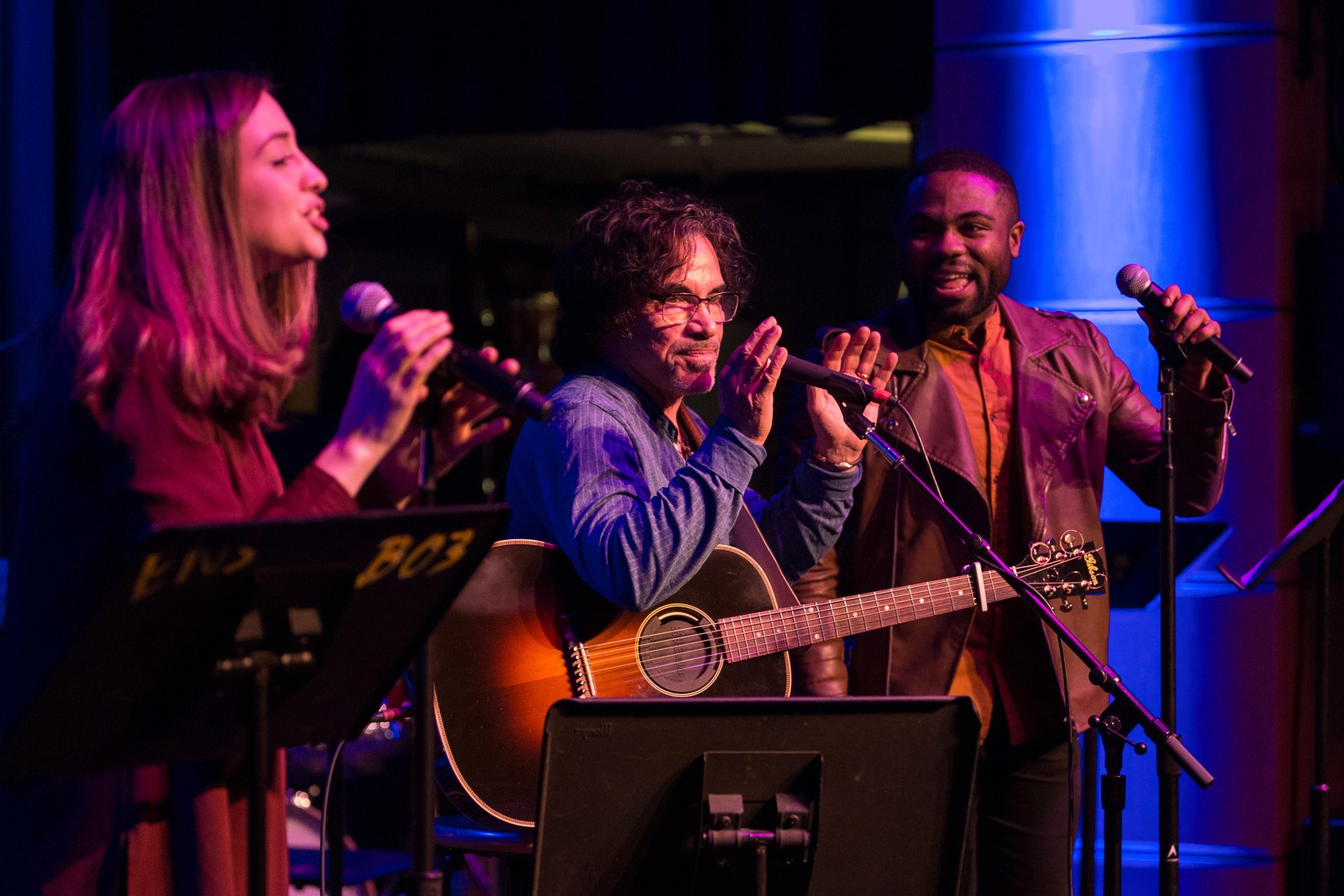 John Oates performs with Berklee students