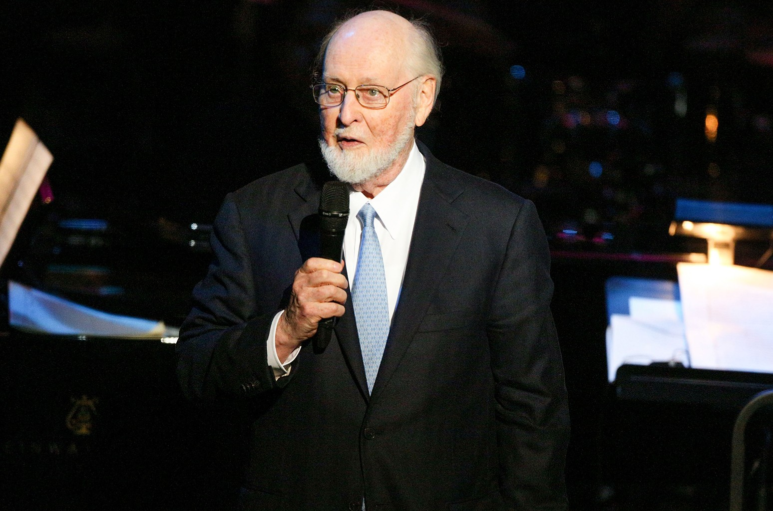Composer John Williams photographed on April 1, 2017 in Beverly Hills, Calif.