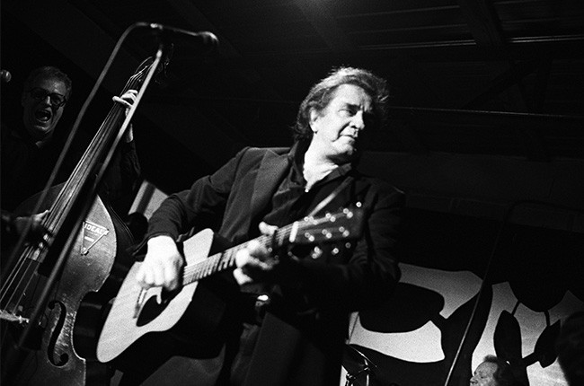 Johnny Cash performing at SXSW in 1994.