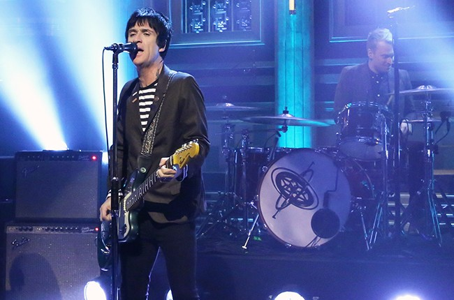 Johnny Marr performs on The Tonight Show with Jimmy Fallon on November 11, 2014.