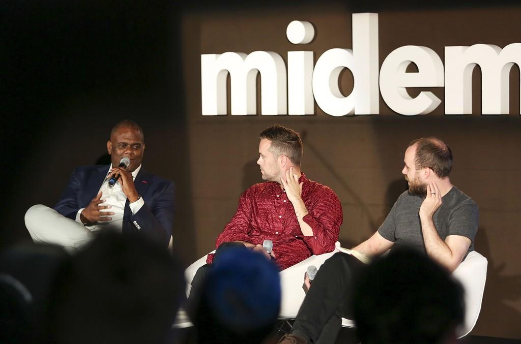 Jon Platt and Justin Tranter speak at the 2016 Midem Conferences.