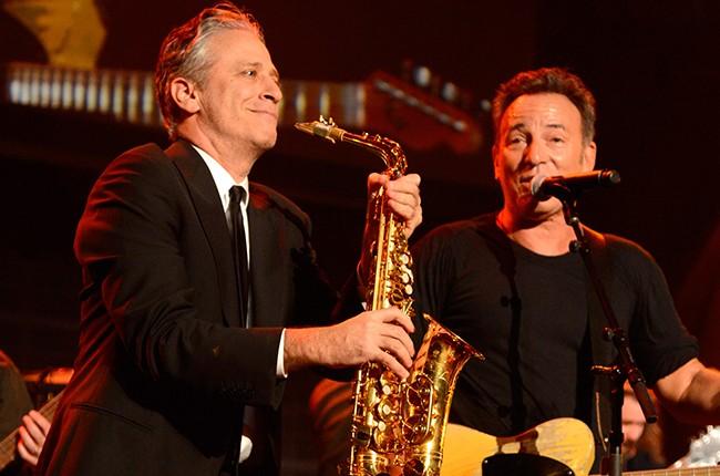 Jon Stewart and Bruce Springsteen
