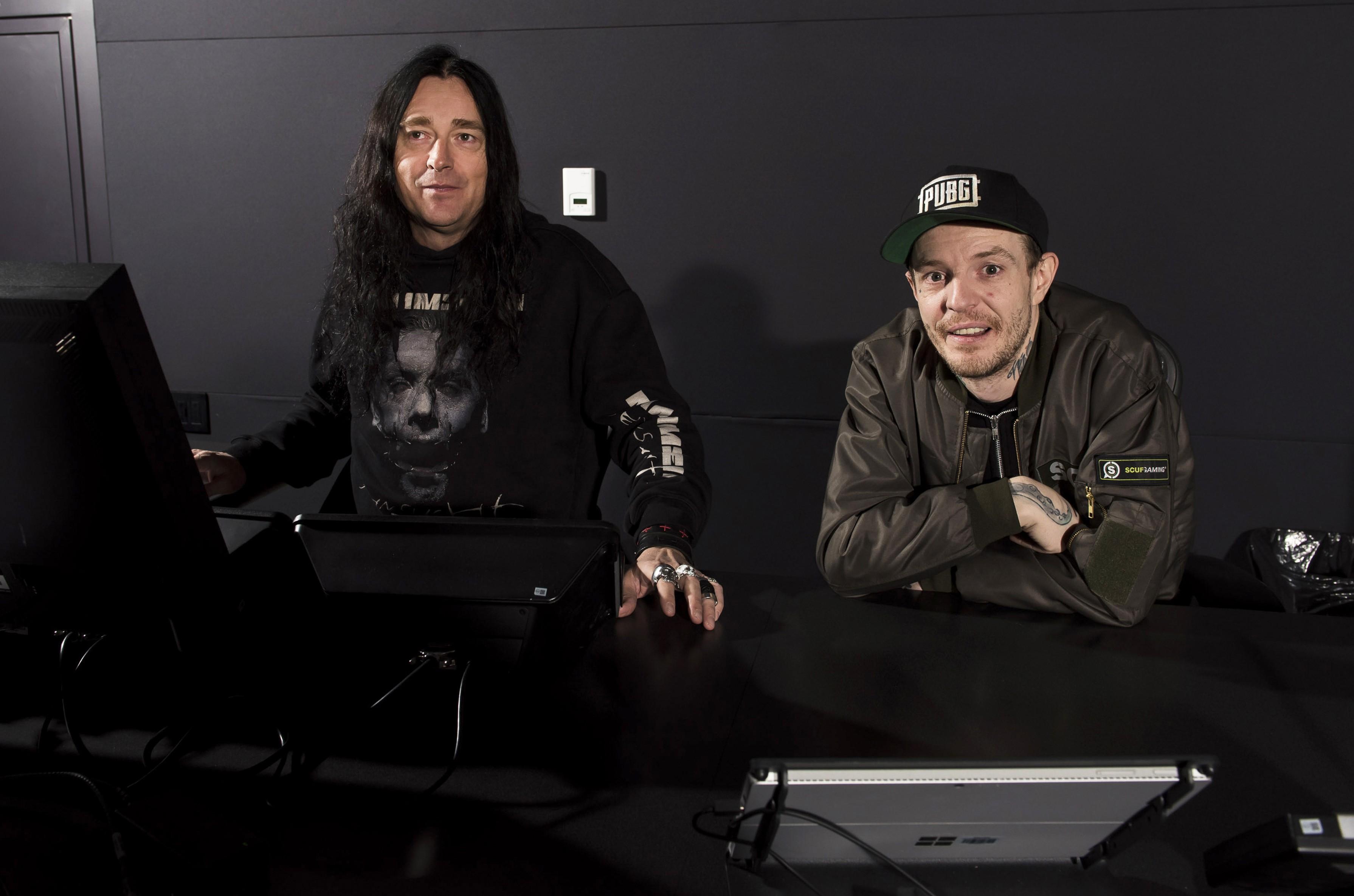 Jonas Åkerlund, left, and Joel Zimmerman, a.k.a deadmau5