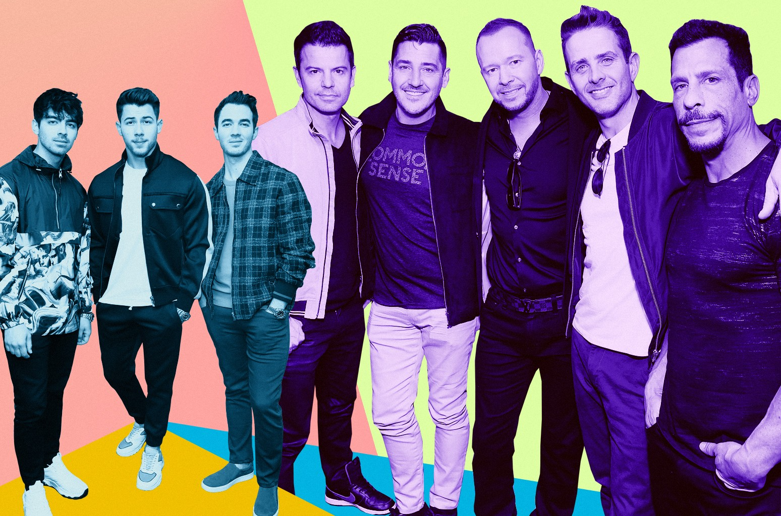 Jonas Brothers and New Kids On The Block