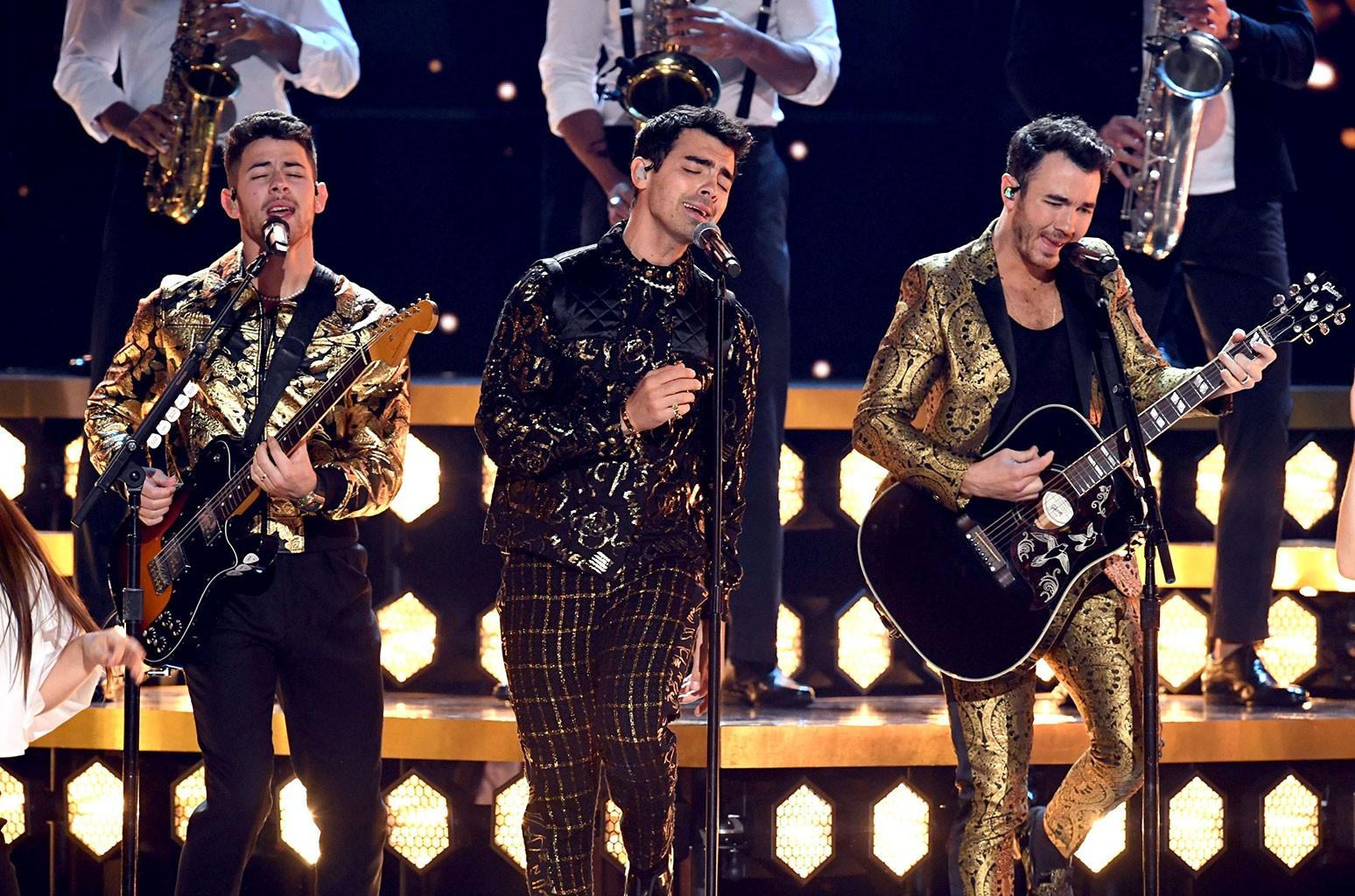 Nick Jonas, Joe Jonas and Kevin Jonas of Jonas Brothers