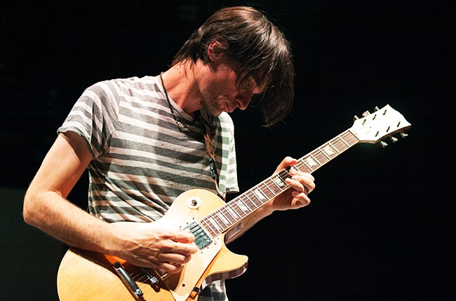 Jonny Greenwood of Radiohead performs on July 28, 2014