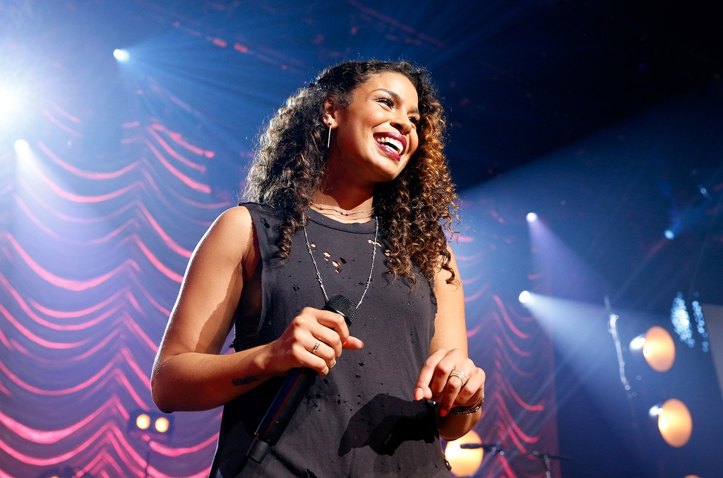 Jordin Sparks performs on the Honda Stage at the iHeartRadio Theater on June 25, 2015 in Burbank, Calif.