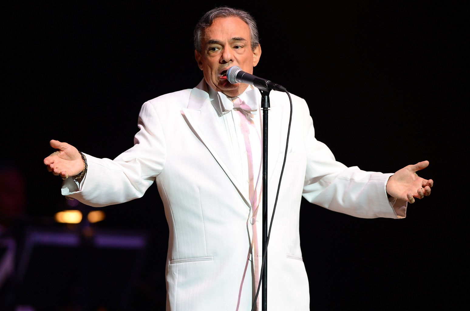 Jose Jose performs at Hard Rock Live! in the Seminole Hard Rock Hotel & Casino on Dec. 16, 2012 in Hollywood, Fla.