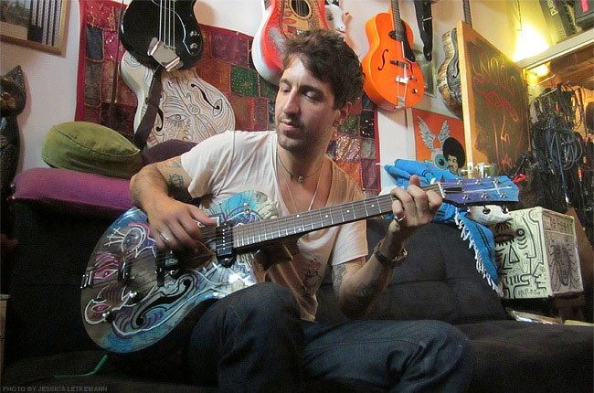 Joseph Arthur in his Brooklyn studio, June 2013.