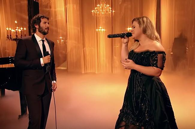 Josh Groban and Kelly Clarkson