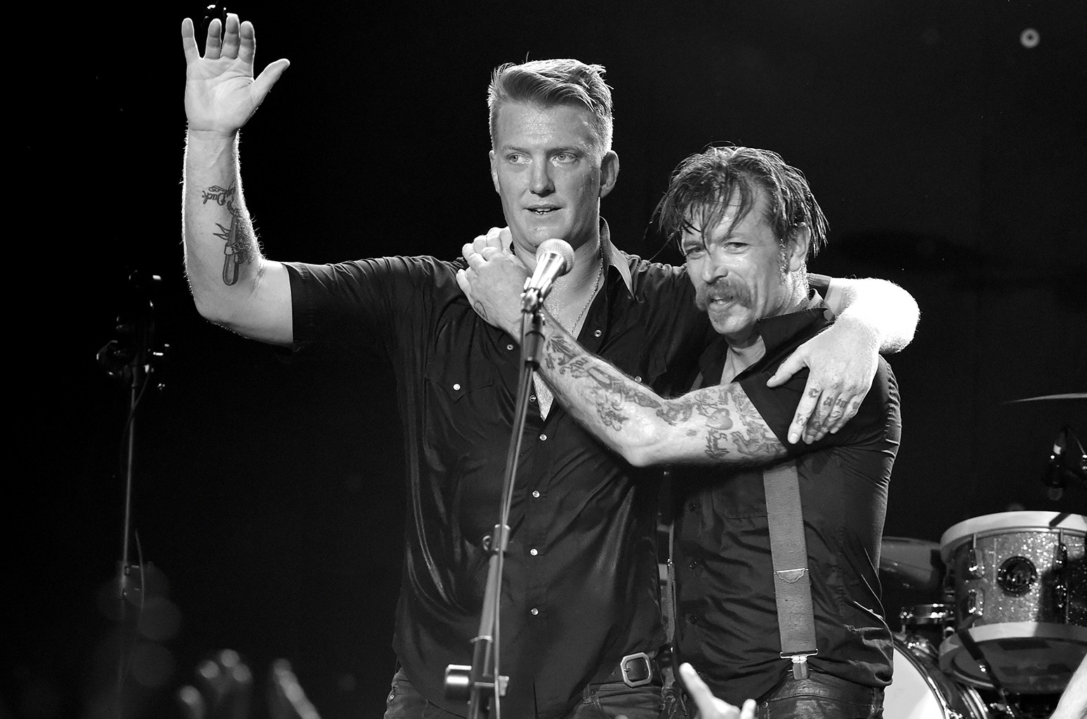 Josh Homme and Jesse Hughes of Eagles of Death Metal