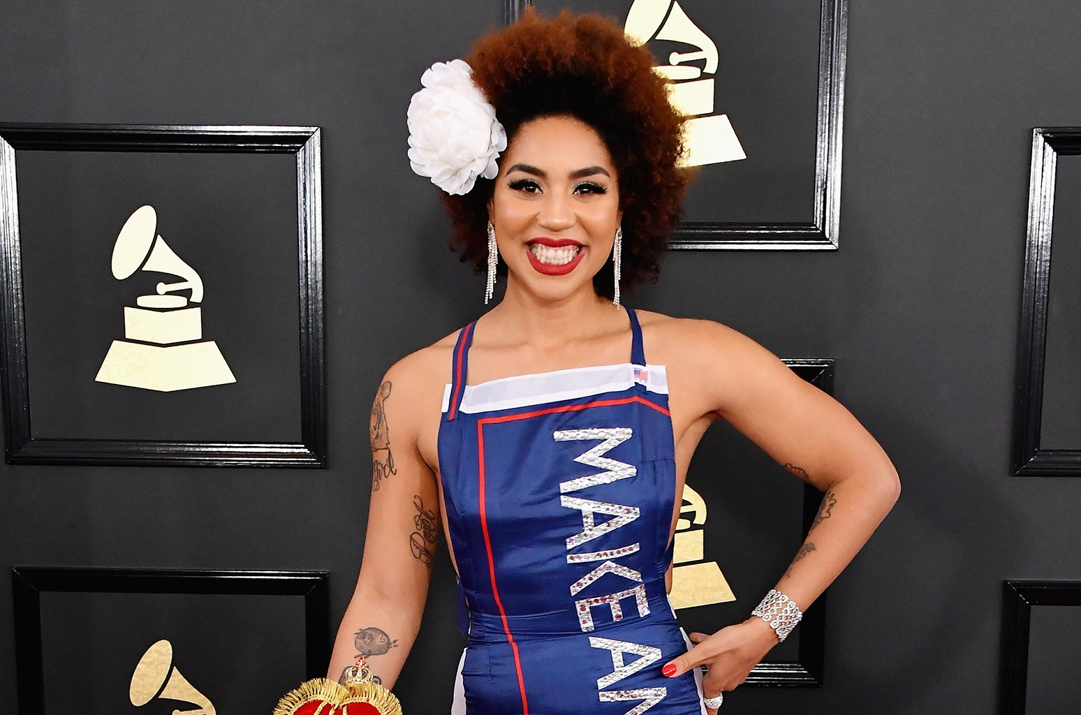 Pro-Trump Singer Joy Villa Talks 'Overwhelming Support' Thanks to Grammys Dress