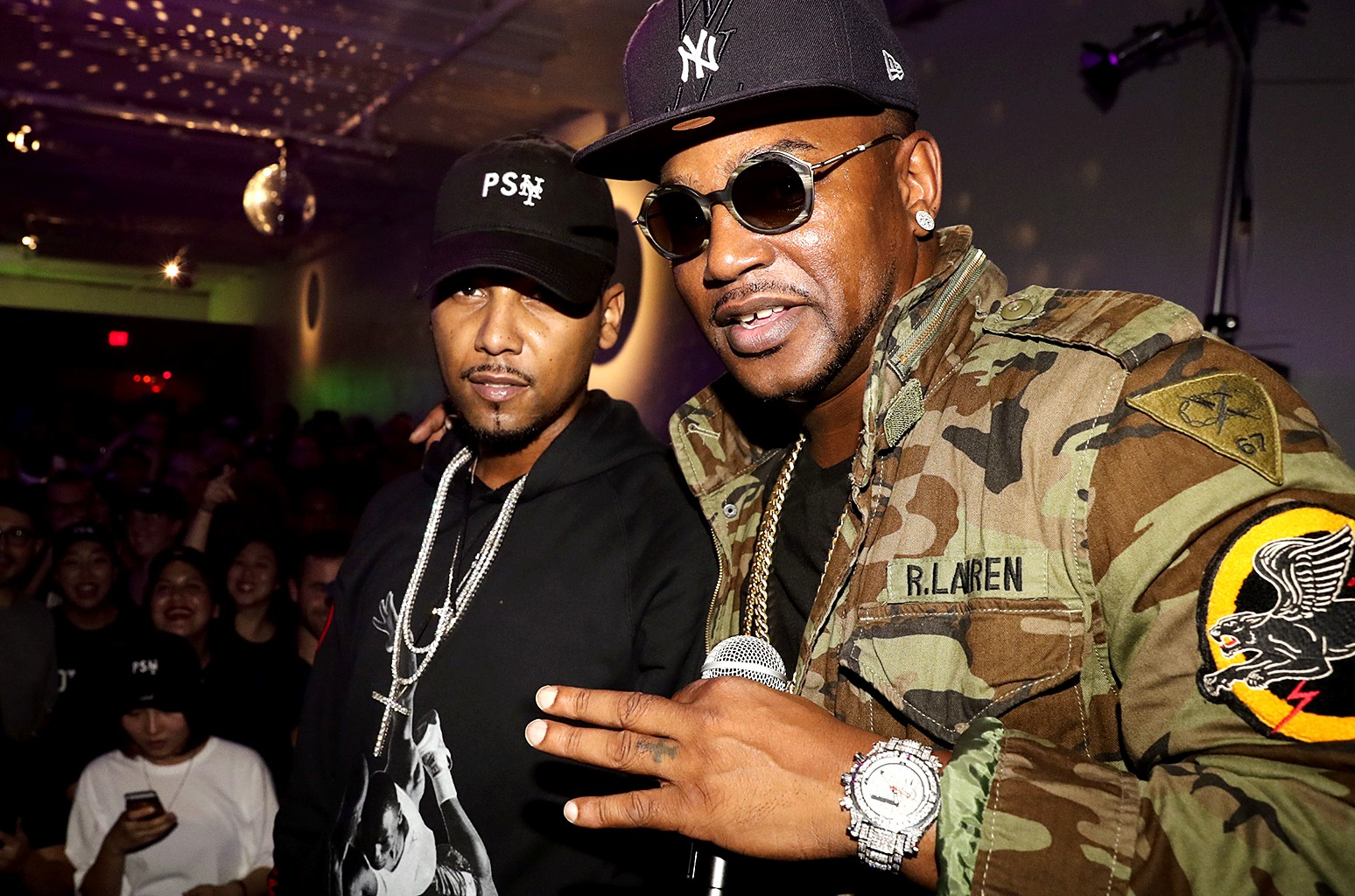 Juelz Santana and Cam'ron perform at the Public School New Era Party at 231 Bowery on Sept. 29, 2016 in New York City.