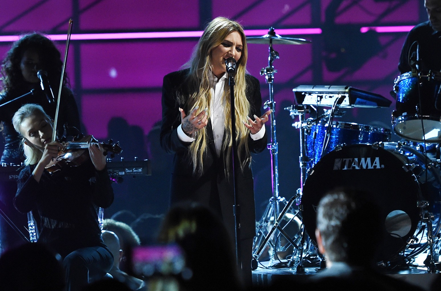 Julia Michaels performs onstage during the 2017 Billboard Music Awards at T-Mobile Arena on May 21, 2017 in Las Vegas.
