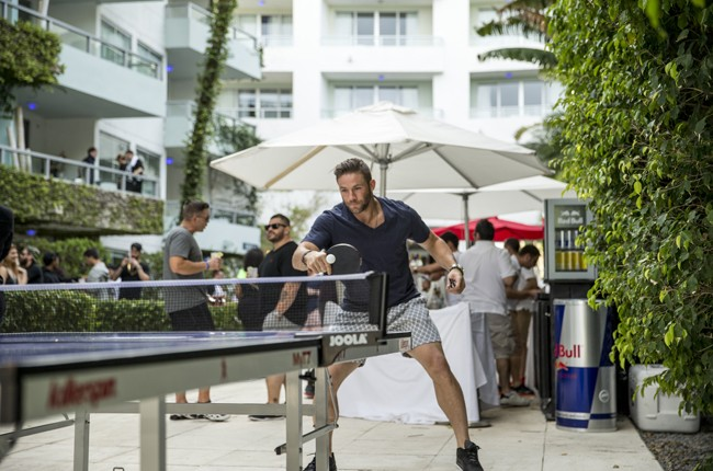 Julian Edelman enjoys the Red Bull Guest House in Miami