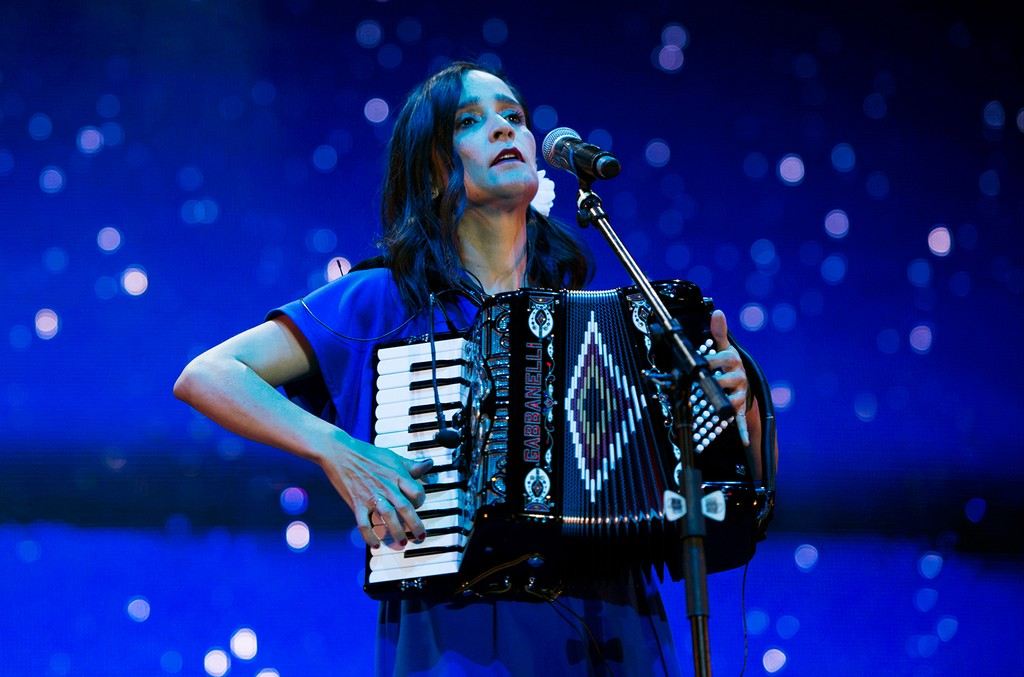 Julieta Venegas performs during a show as part of the Vive Latino 2017 at Foro Sol on March 19, 2017 in Mexico City, Mexico.