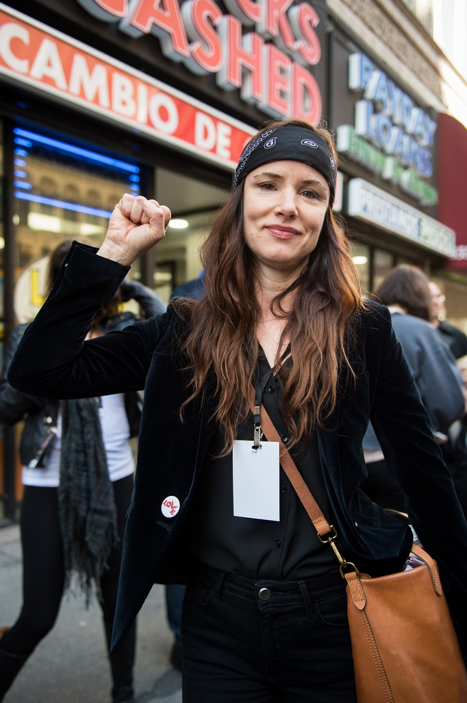 Juliette Lewis attends the women's march in Los Angeles on January 21, 2017 in Los Angeles, California.  (Photo by Emma McIntyre/Getty Images)