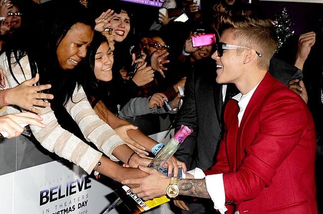Justin Bieber, 'Believe' movie premiere