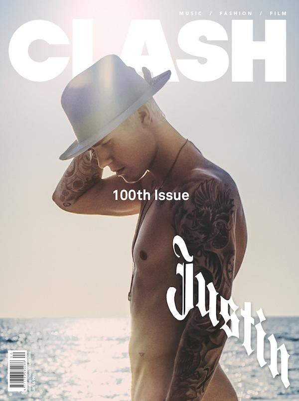 Justin Bieber on the cover of Clash