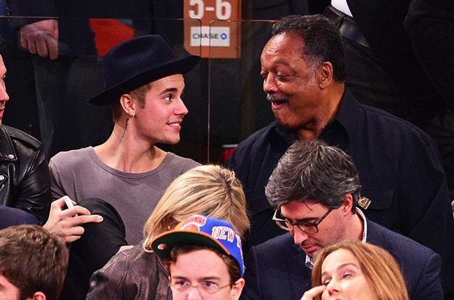 Justin Bieber and Jesse Jackson