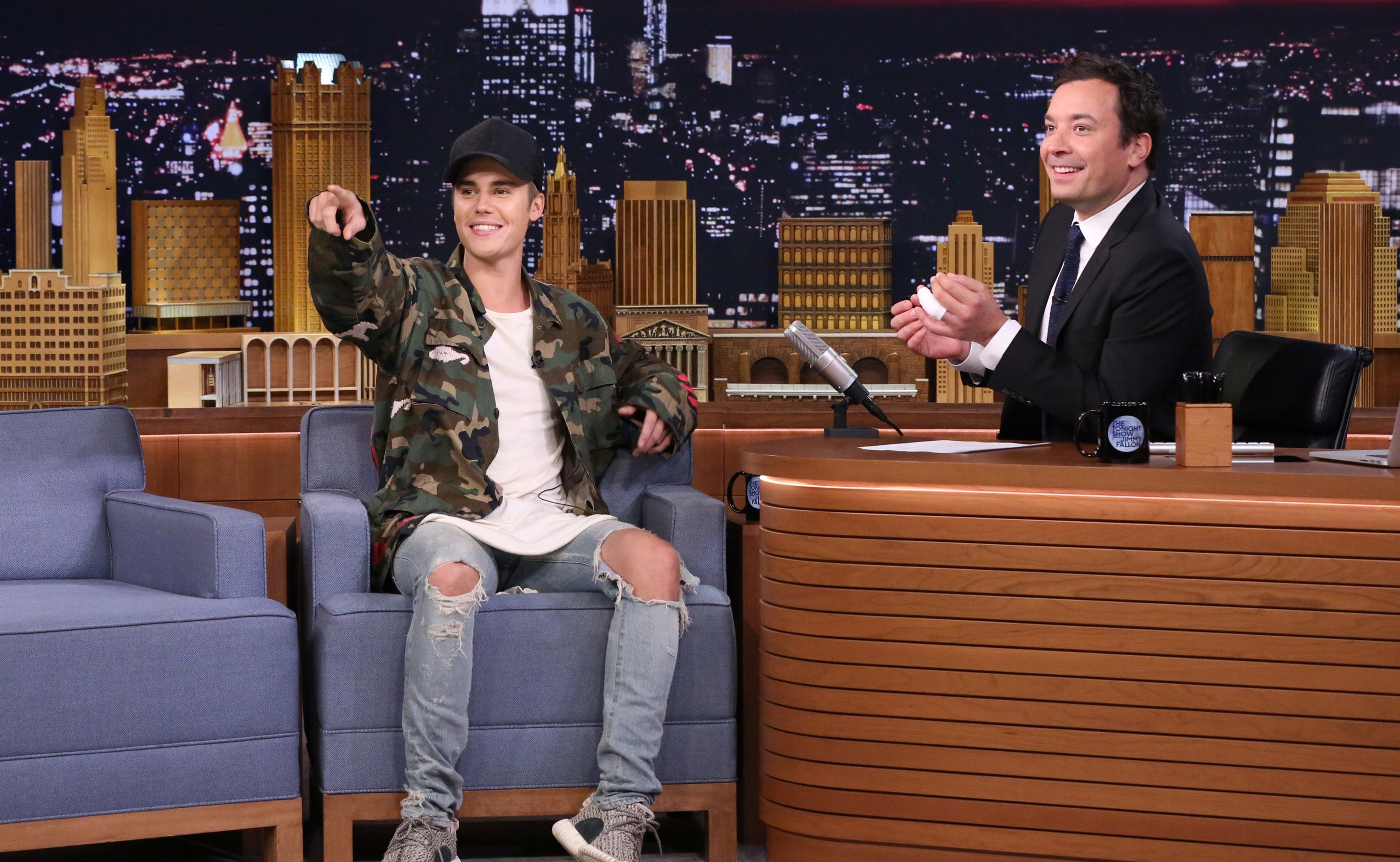 """Justin Bieber and Jimmy Fallon on """"The Tonight Show"""""""