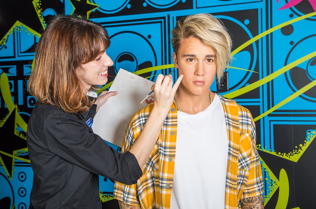 Justin Bieber's 11th Madame Tussauds wax figure unveiled during a special event at Madame Tussauds Orlando