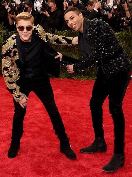 Justin Bieber and Olivier Rousteing