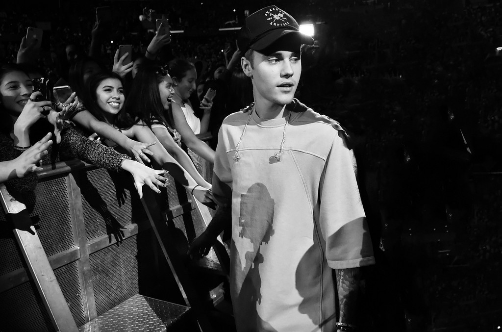 Justin Bieber at the release of Purpose in Los Angeles