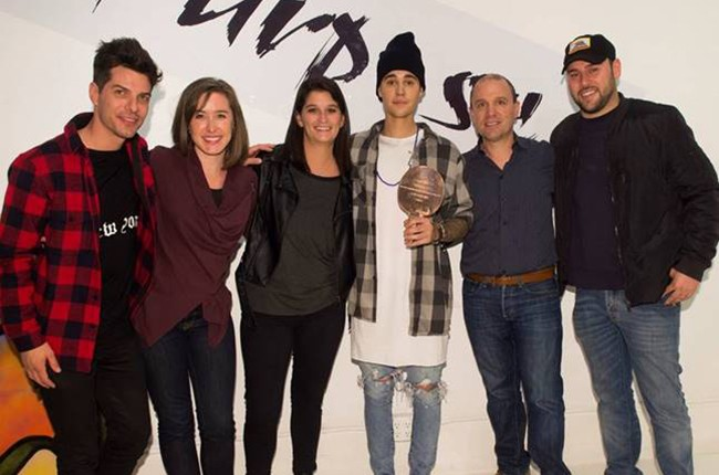 Justin Bieber, Scooter Braun and the Spotify team