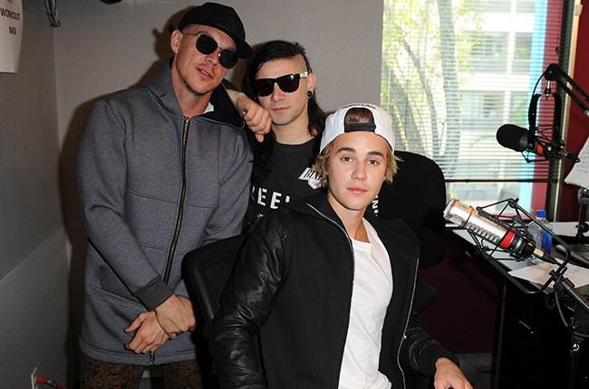 Diplo, Justin Bieber and Skrillex