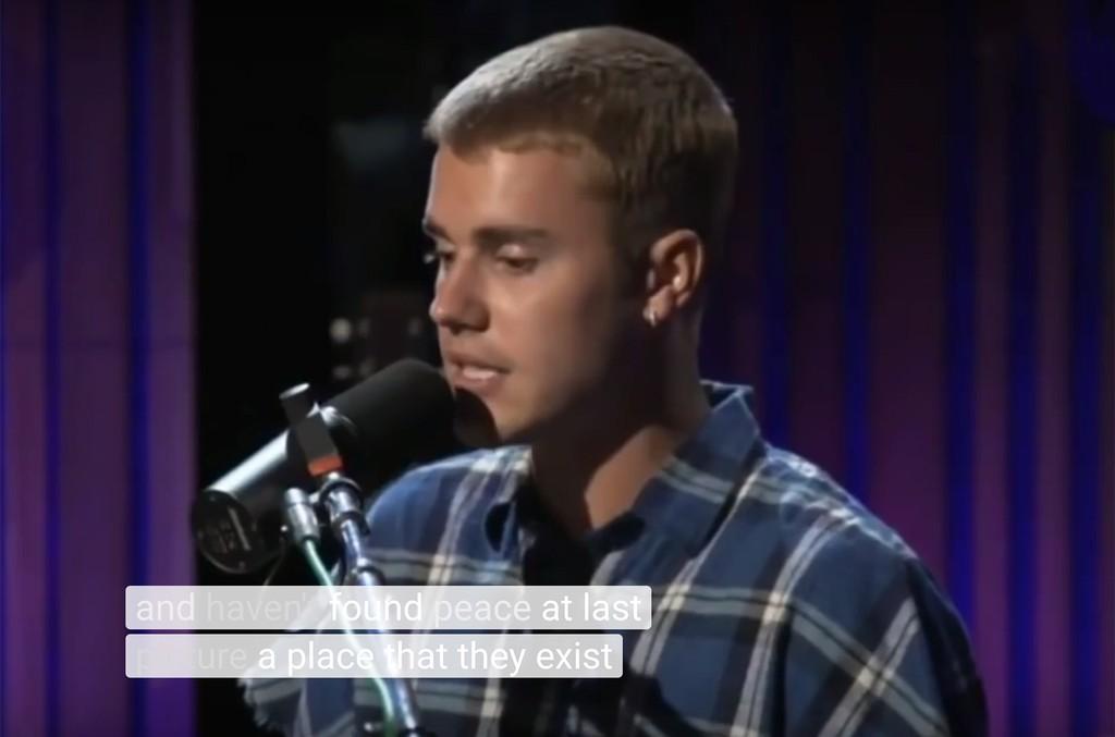 "Justin Bieber covers ""Thugz Mansion"" on BBC Radio 1."