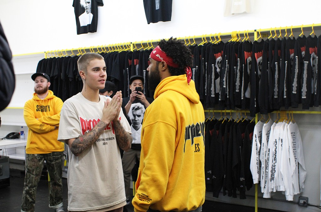 Justin Bieber at the VFiles Pop Up