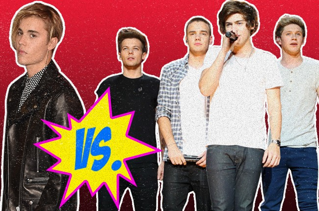 Justin Bieber vs. One Direction