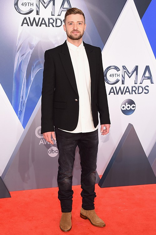 Justin Timberlake attends the 49th annual CMA Awards