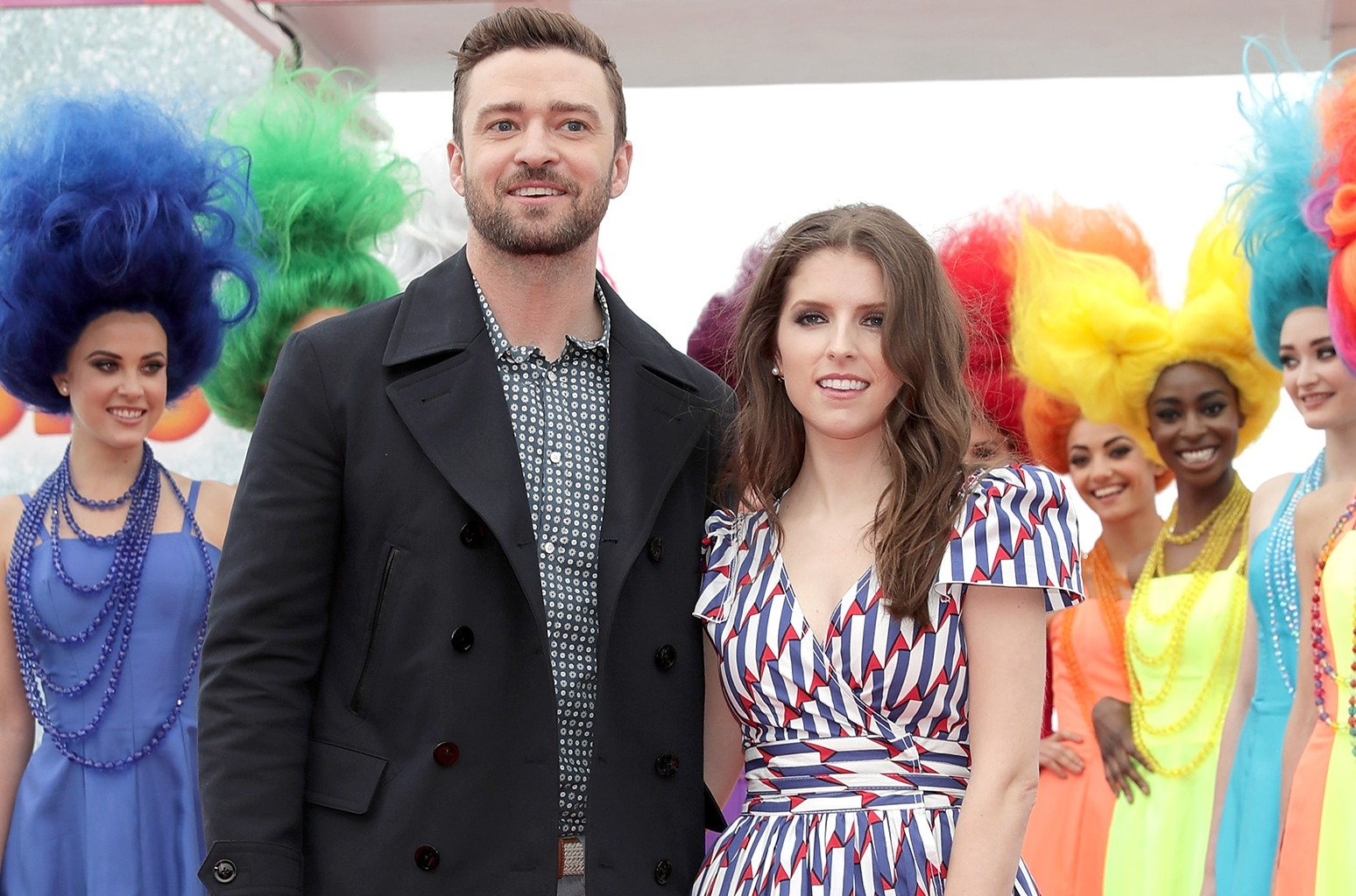 Justin Timberlake and Anna Kendrick during the Trolls photocall in Cannes