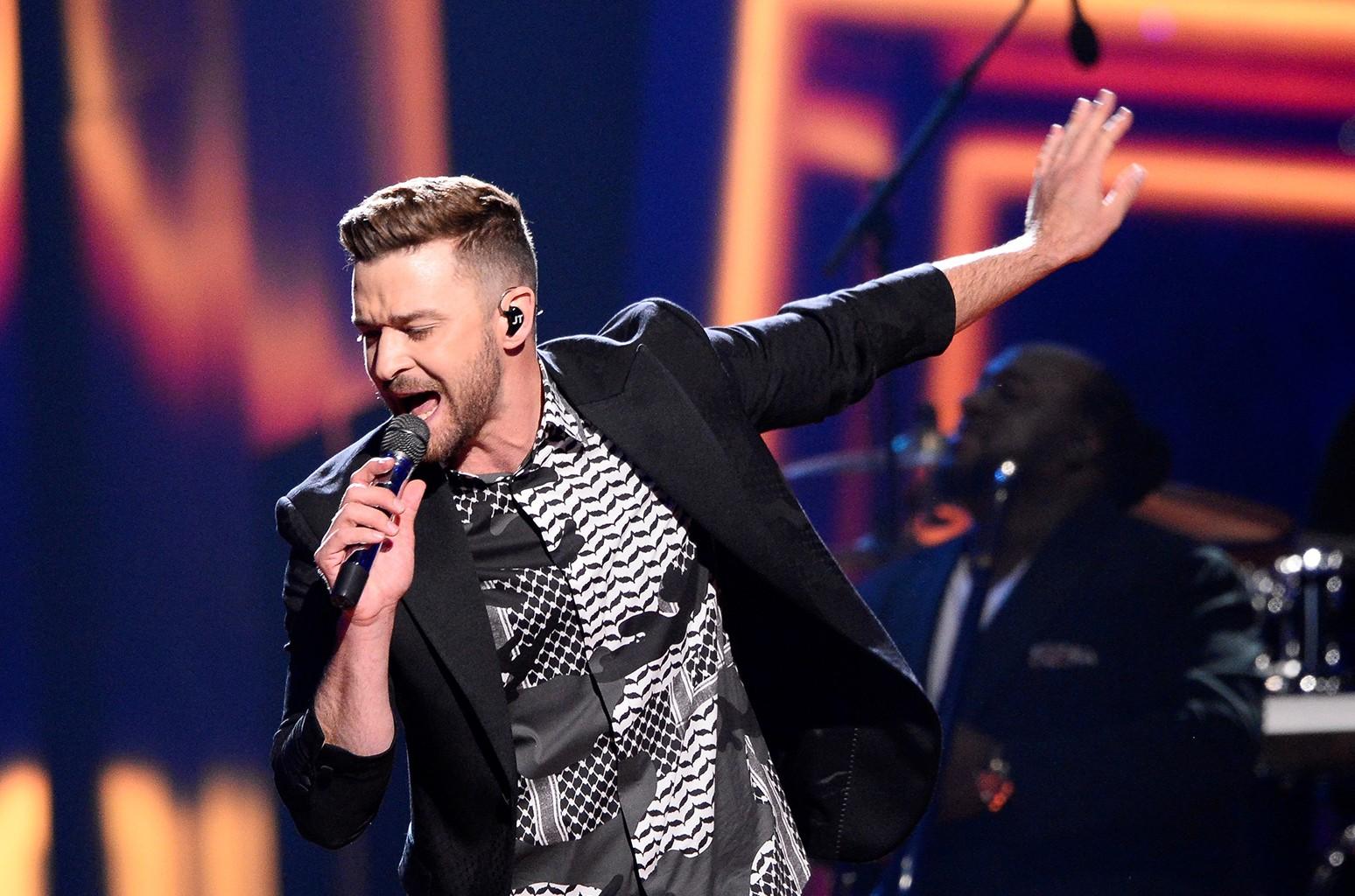 Justin Timberlake performs in Stockholm