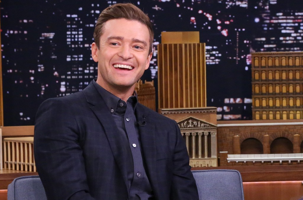 Justin Timberlake during an interview on The Tonight Show Starring Jimmy Fallon