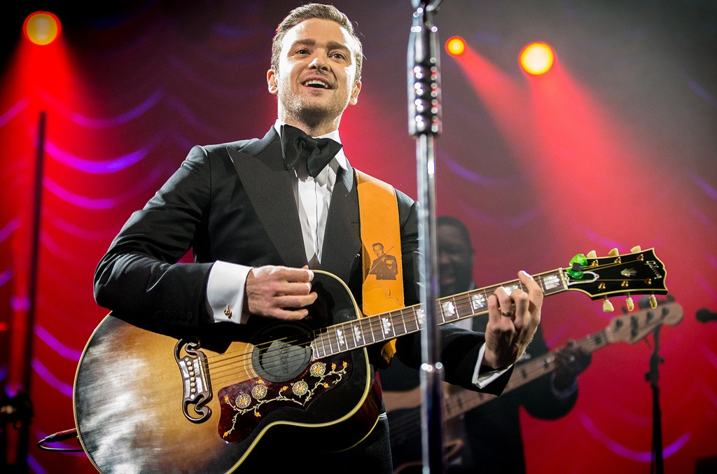 Justin Timberlake performs on Feb. 2, 2013 in New Orleans.