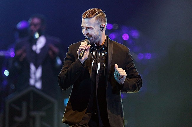 Justin Timberlake performs in Melbourne, Australia.