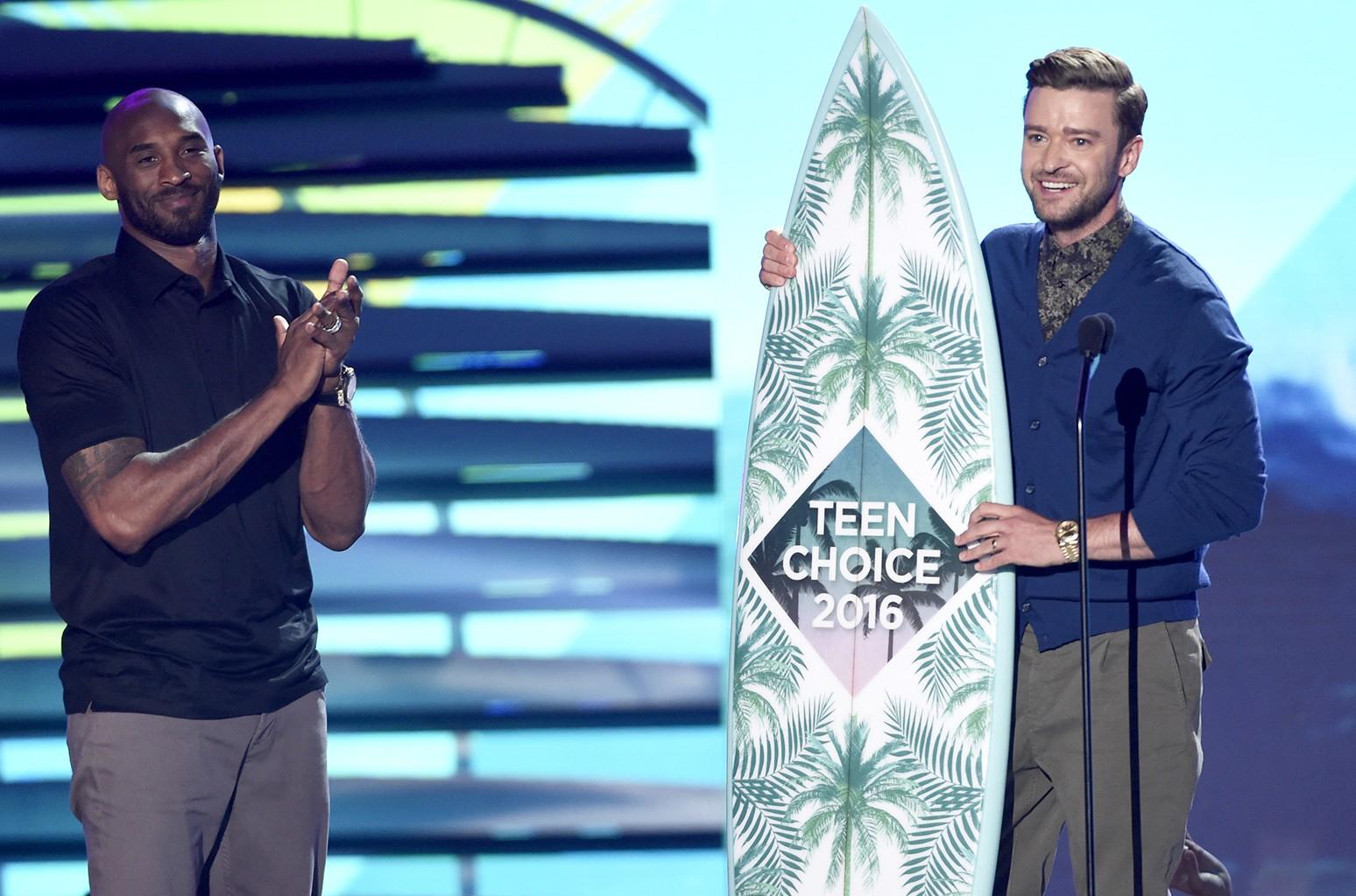 Justin Timberlake at the Teen Choice Awards