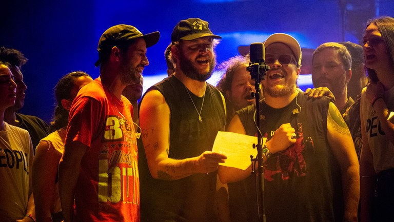 <p>Bon Iver performs at the Bonnaroo Music and Arts Festival on June 9, 2018 in Manchester, Tenn.&nbsp&#x3B;</p>
