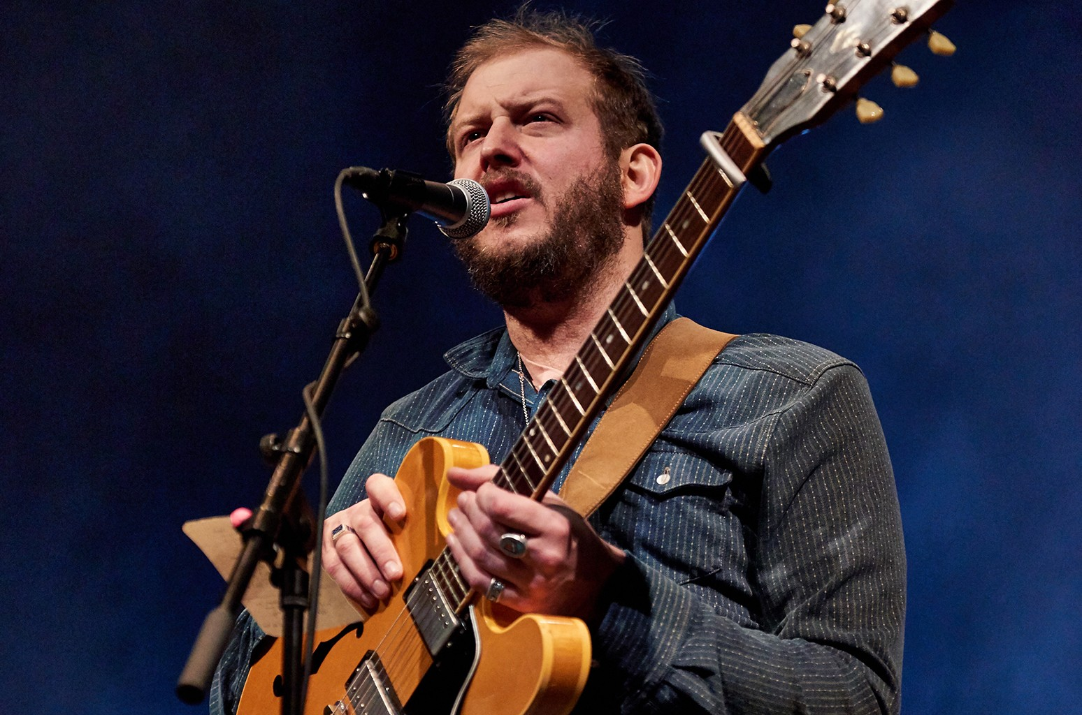 Justin Vernon of Bon Iver performs in 2015